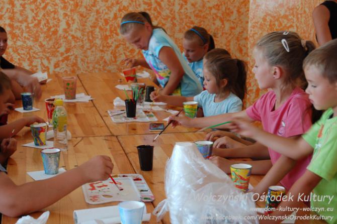 Galeria malowanie farbami akrylowymi - Szymonków
